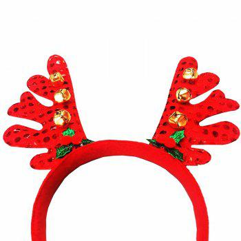Fashion Deer Bell Head Band Christmas Decorations -  RED