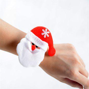 Fashion 6PCS Santa Claus Hand Ring Christmas Party Decorated - RED RED