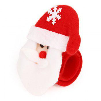 Fashion 6PCS Santa Claus Hand Ring Christmas Party Decorated - RED
