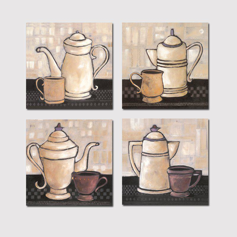 Hx-Art No Frame Canvas Four-Picture Teapot Decorated The Living Room Paint