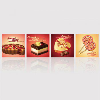 Hx-Art No Frame Canvas Four-Picture Set of Chocolate Candy Decorating The Living Room Paintings
