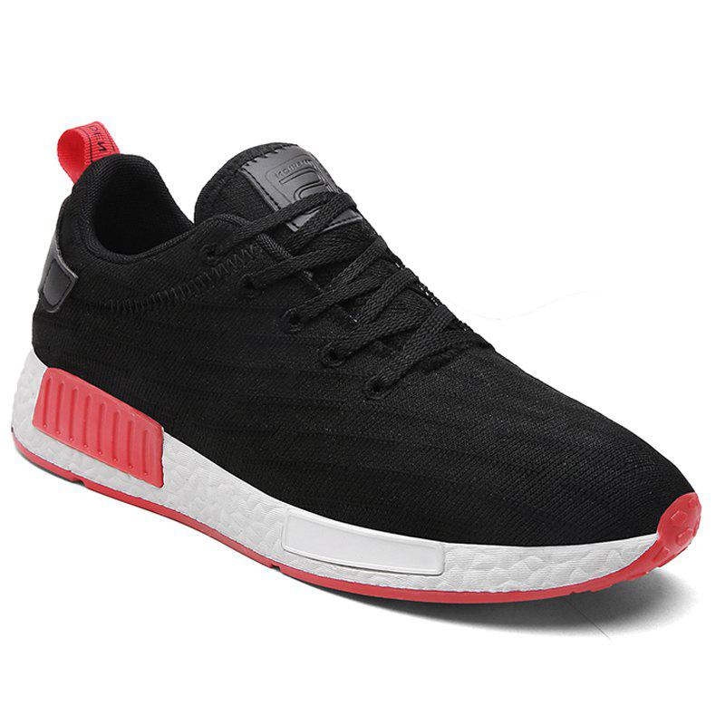 Men New Fashion Casual Shoes Men Outdoor Breathable Shoes - BLACK WHITE 42