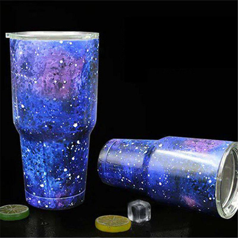 European Cup 30OZ Star Ice Color And Ice Cold Vacuum Insulation 304 Stainless Steel Beer - CORNFLOWER
