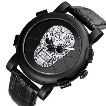 Skone 9479G 1099 Leisure Luminous Needle Men Watch -  COLORFUL