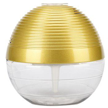 Home Basic Air Conditioning Essential Oil Ionizing Aroma Air Purifier with Led Light - GOLDEN GOLDEN