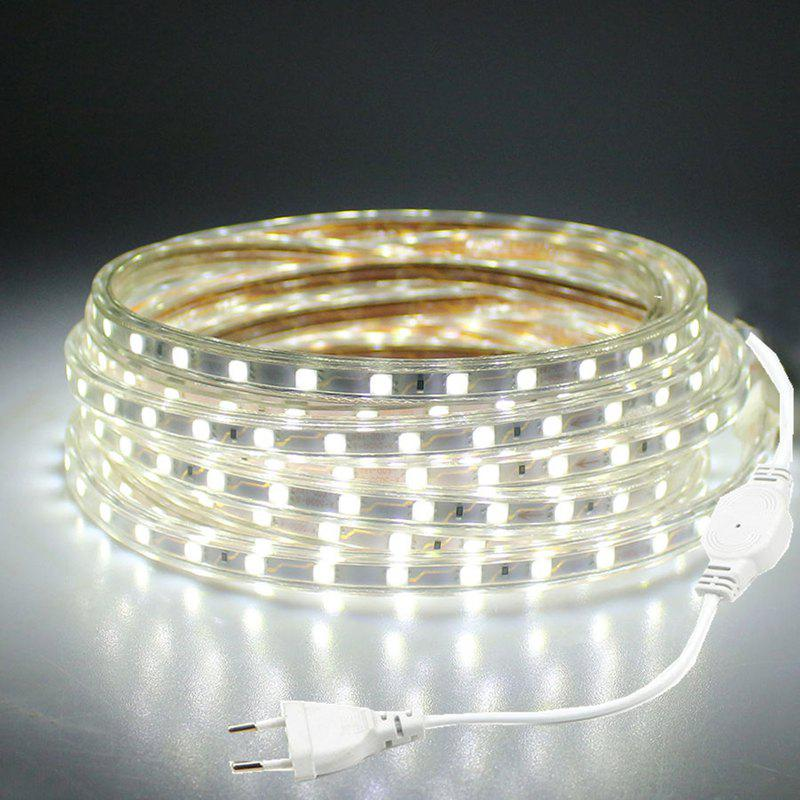 DengZhan 2M Christmas Band Flexible Strip Light 220 - 240V 5050 120SMD 900LM 10W Waterproof Xmas Garden Outdoor Lighting EU Plug - COOL WHITE LIGHT