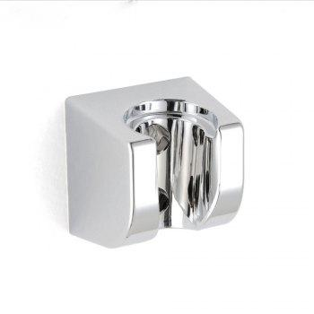 Sea Pioneer Square Shape Adjustable Shower Head Holder Bracket Wall Mounted for Bathroom Hotel - SILVER WHITE SILVER WHITE