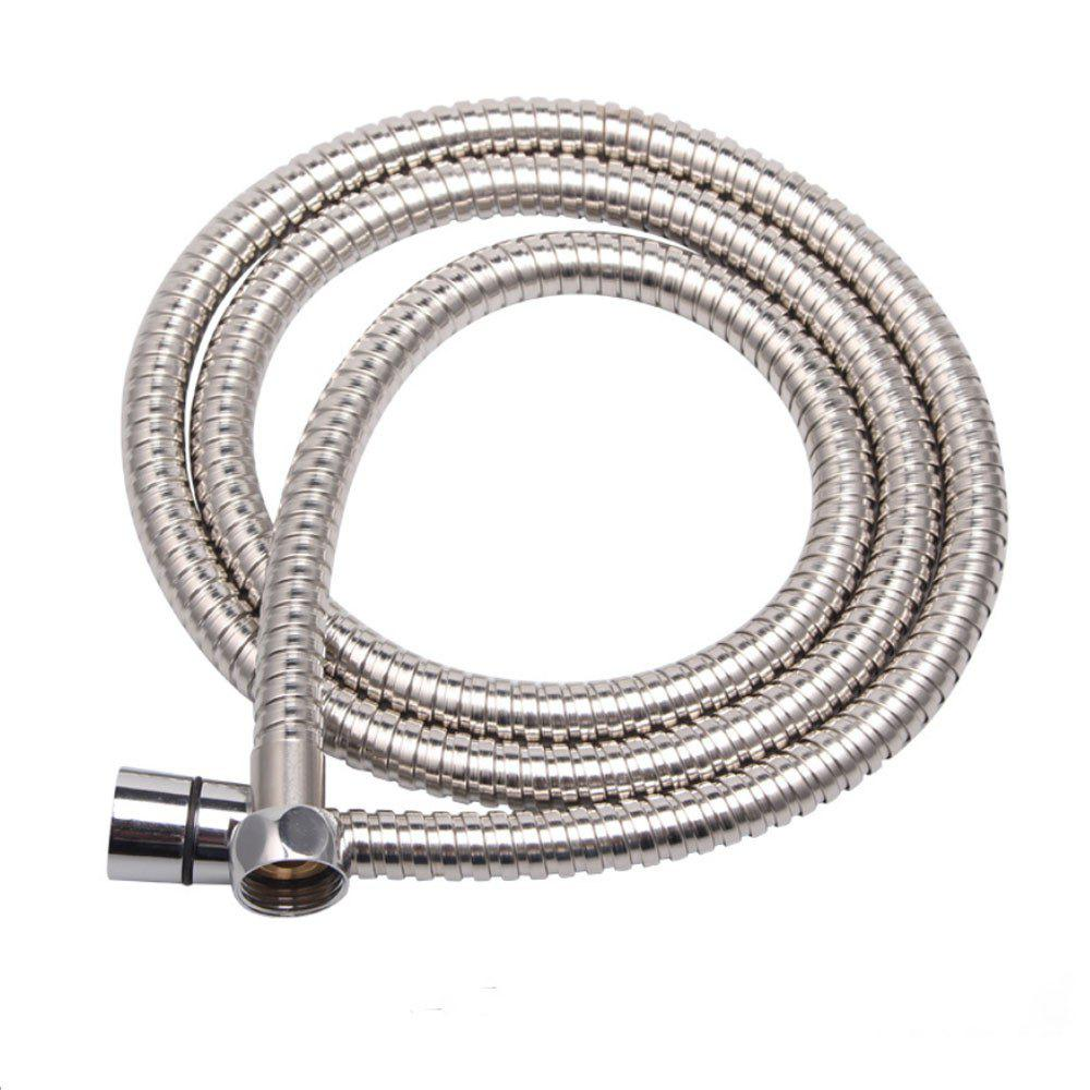 Shower Hose Sea Pioneer 1.5M Anti-Explosion Stainless Steel Shower Hose with Solid Brass - SILVER WHITE