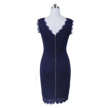 New Sexy Ebay High Quality Robe Femme 2017 Women Summer Embroidery Sexy Dresses Sleeveless Casual Evening Party Sheath Shift Dress - XL XL