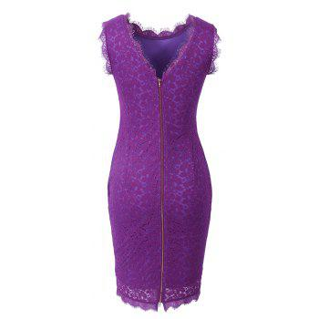 New Sexy Ebay High Quality Robe Femme 2017 Women Summer Embroidery Sexy Dresses Sleeveless Casual Evening Party Sheath Shift Dress - PURPLE 2XL