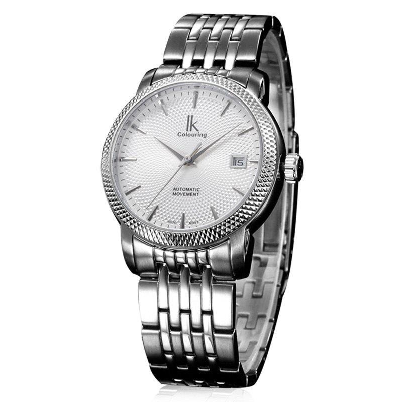 IKCOLOURING 98449G 4593 Sapphire Mirror Men Watch - SILVER