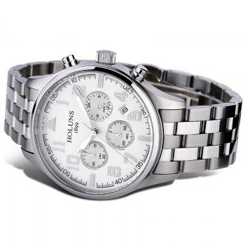 HOLUNS 4609 Business Quartz Steel Band Men Watch -  WHITE
