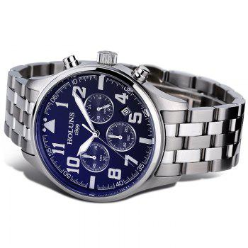 HOLUNS 4609 Business Quartz Steel Band Men Watch - BLUE