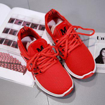 All-Match Cloth Shoes Lace White Sneakers Shoes - 38 38