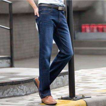 Baiyuan Trousers High Quality Smart Casual Designer Jeans Blue - BLUEBELL 33
