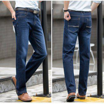 Baiyuan Trousers High Quality Smart Casual Designer Jeans Blue - BLUEBELL 34