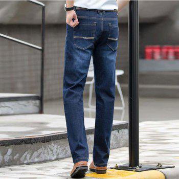 Baiyuan Trousers High Quality Smart Casual Designer Jeans Blue - 30 30