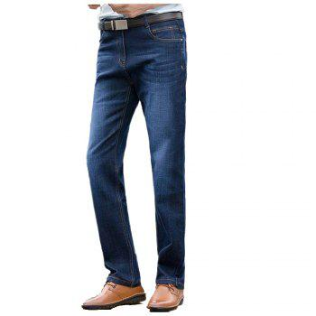 Baiyuan Trousers High Quality Smart Casual Designer Jeans Blue - BLUEBELL BLUEBELL