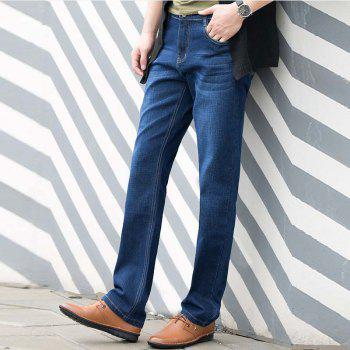 Baiyuan Trousers Slim Fit Denim Jeans Blue - BLUEBELL 36