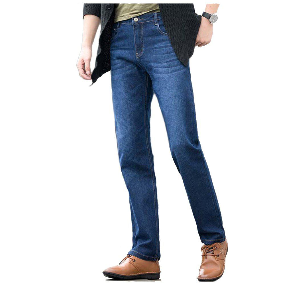 Baiyuan Trousers Slim Fit Denim Jeans Blue - BLUEBELL 30