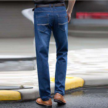 Straight Denim Mens Jeans Blue Zipper Fly - 31 31