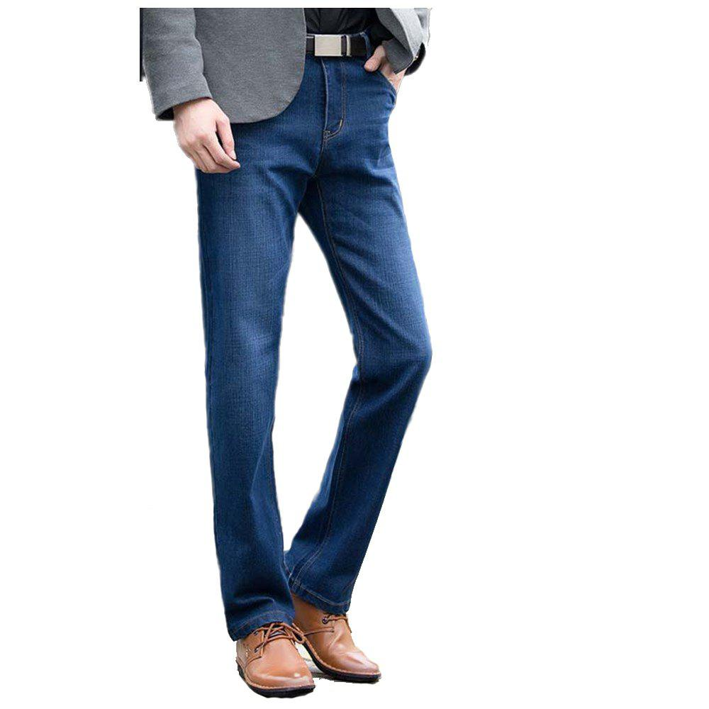 Straight Denim Mens Jeans Blue Zipper Fly - BLUEBELL 36