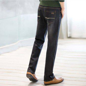 Baiyuan Trousers Business Casual Mens Jeans Black - BLACK R 32