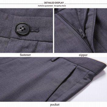 Baiyuan Trousers Bussiness Casual Slim Fit Mens Suit Pants Grey - GREY T / 31
