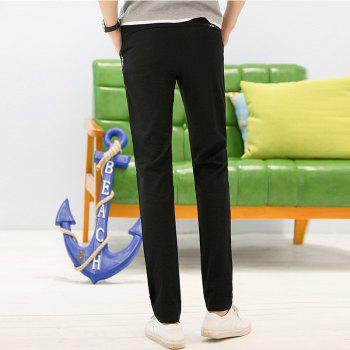 Baiyuan Trousers Autumn Fashion Casual Slim Fit Mens Long Pants Black - BLACK R  BLACK R