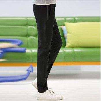 Baiyuan Trousers Autumn Fashion Casual Slim Fit Mens Long Pants Black - BLACK R 30