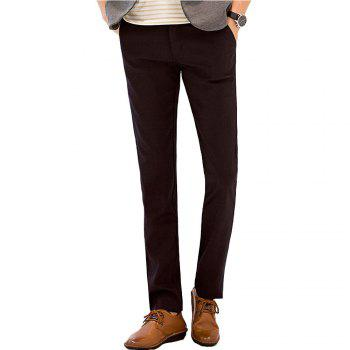 Baiyuan Trousers Autumn Business Casual Slim Fit Mens Suit Pants Red Wine - RED WINE RED WINE