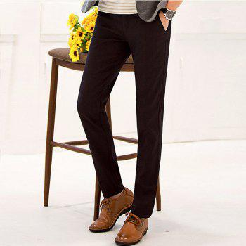 Baiyuan Trousers Autumn Business Casual Slim Fit Mens Suit Pants Red Wine - 33 33