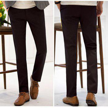 Baiyuan Trousers Autumn Business Casual Slim Fit Mens Suit Pants Red Wine - RED WINE 34