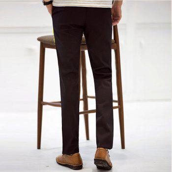 Baiyuan Trousers Autumn Business Casual Slim Fit Mens Suit Pants Red Wine - 34 34