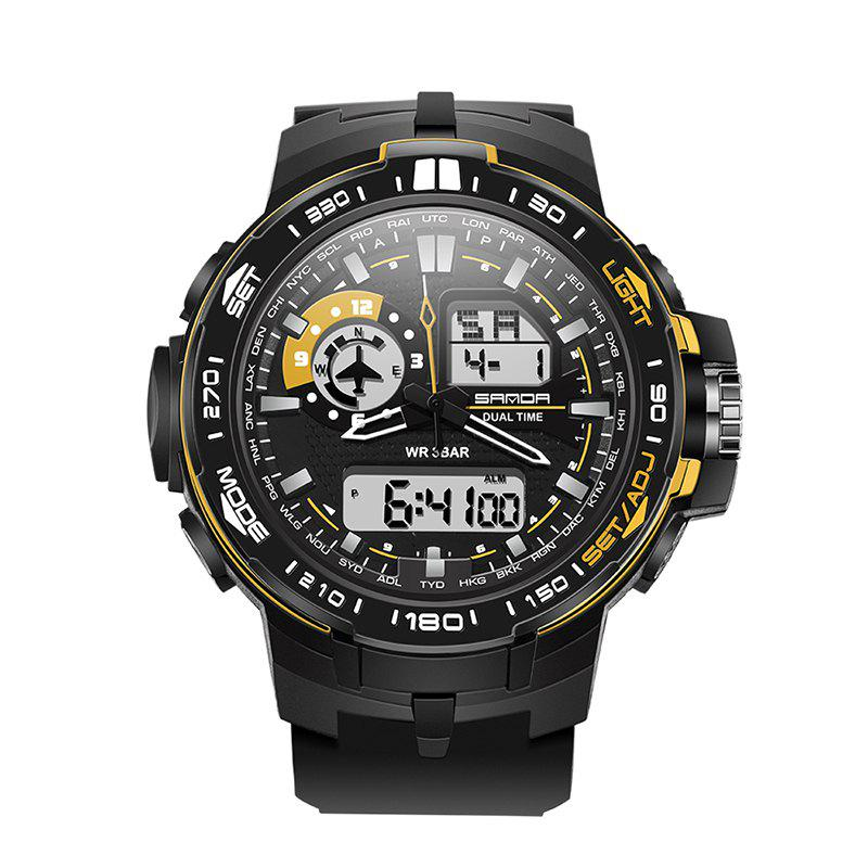 Sanda 737 5316 Outdoor Multifunctional Pin Buckle Men Watch - GOLDEN