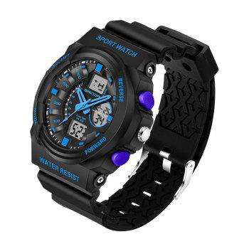 Sanda 241 5297 LED Luminous Quartz Movement Men Watch - Bleu