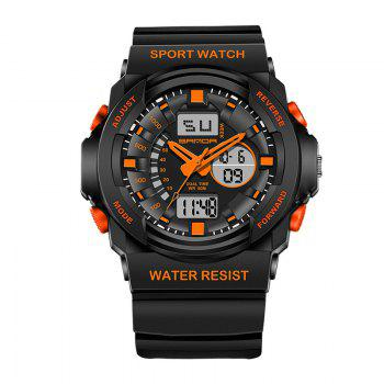 Sanda 241 5297 LED Luminous Quartz Movement Men Watch - ORANGE ORANGE