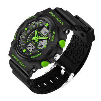 Sanda 241 5297 LED Luminous Quartz Movement Men Watch -  GREEN
