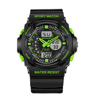 Sanda 241 5297 LED Luminous Quartz Movement Men Watch - GREEN GREEN