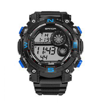 Sanda 323 5304 Sports Multifunctional Men Watch - BLUE BLUE