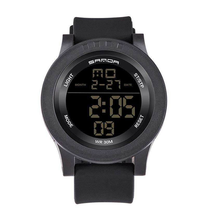 Sanda 336 5311 Leisure Multifunctional Sports Men Watch - BLACK