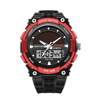 Sanda 719 5313 Multifunctional Outdoor Sports Men Watch - BLACK AND RED BLACK/RED