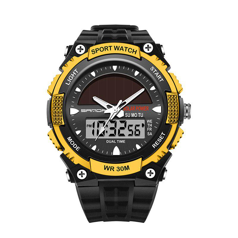Sanda 719 5313 Multifunctional Outdoor Sports Men Watch - BLACK/GOLDEN