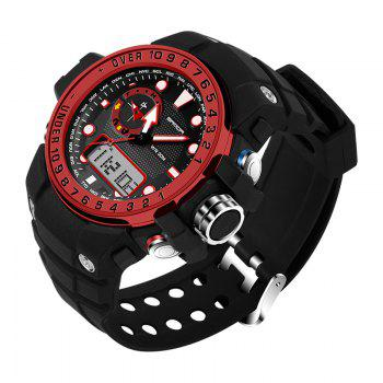 Sanda 399 5314 Leisure Luminous Outdoor Men Watch - BLACK/RED
