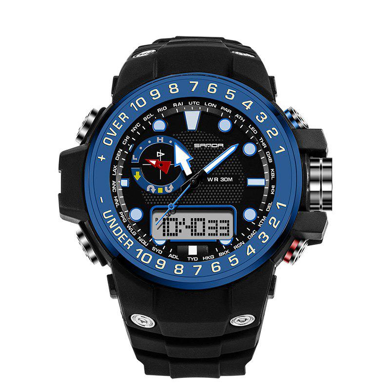 Sanda 399 5314 Leisure Luminous Outdoor Men Watch - BLACK/BLUE