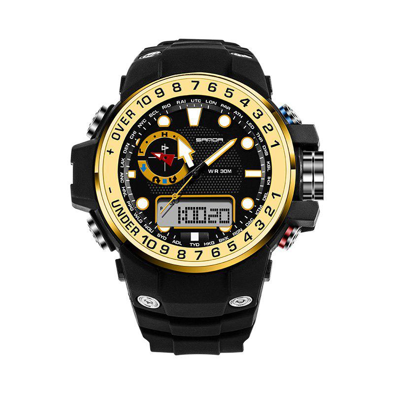 Sanda 399 5314 Leisure Luminous Outdoor Men Watch - BLACK/GOLDEN