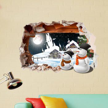 European imitation Tiles of High-Grade  Tile Stickers Stickers Stickers Affixed To The Ground Wall Tiles 3D Simulation - SNOW WHITE