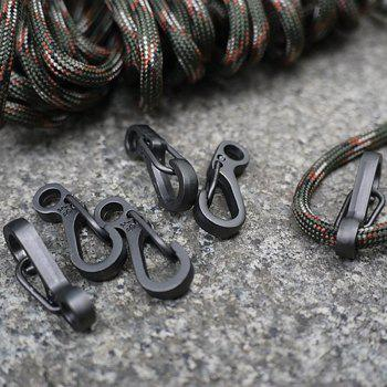 10PCS/SET Spring Buckle Snap Alloy Nickel-Free Plating Mini Key Ring Carabiner Bottle Hook Paracord Camping Accessories - BLACK