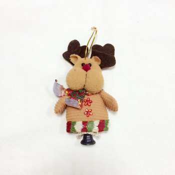 6Pcs Good  Quality Christmas Ornaments with Small Bell -  COLORMIX