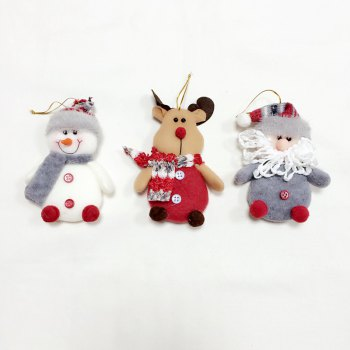 6Pcs Good Quality Christmas Ornaments / Tree Decoration - COLORMIX